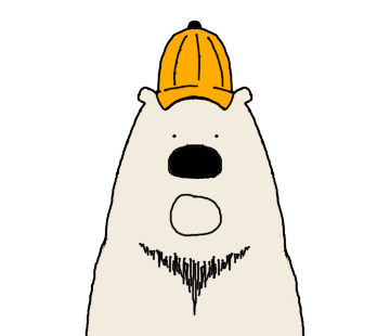 Polar Bear faces sticker messages sticker-9