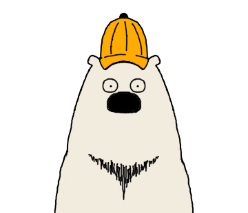 Polar Bear faces sticker messages sticker-10