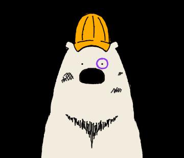 Happy Polar Bear Face Sticker messages sticker-11