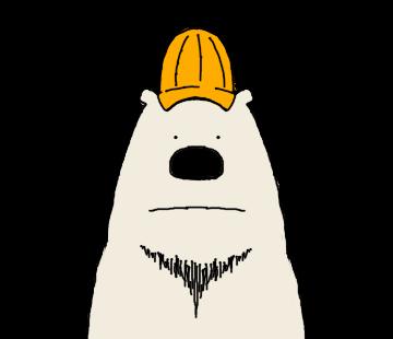 Happy Polar Bear Face Sticker messages sticker-6
