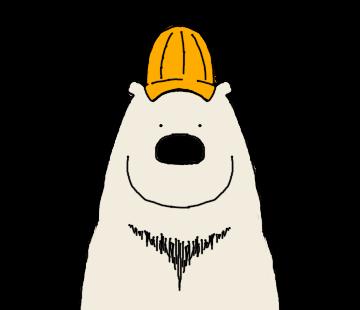 Happy Polar Bear Face Sticker messages sticker-4