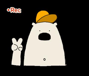 Happy Polar Bear Face Sticker messages sticker-0
