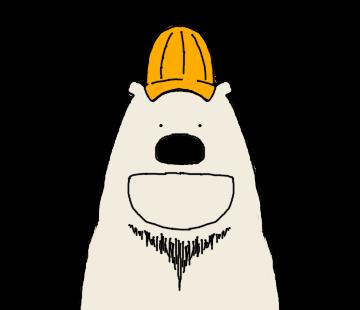 Happy Polar Bear Face Sticker messages sticker-5