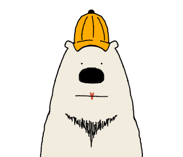 Happy Polar Bear Face Sticker messages sticker-7