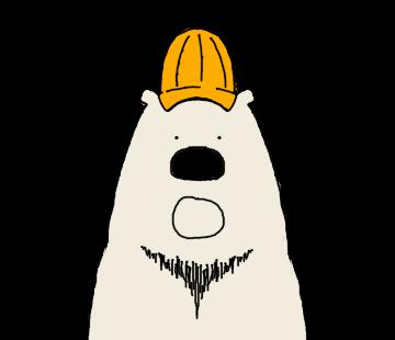 Happy Polar Bear Face Sticker messages sticker-9