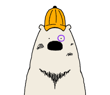 Happy Polar Bear Face Sticker messages sticker-11