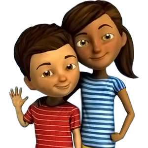 Caleb and Sophia Stickers by Victor Manso