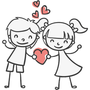 Boy and Girl Stickers messages sticker-4