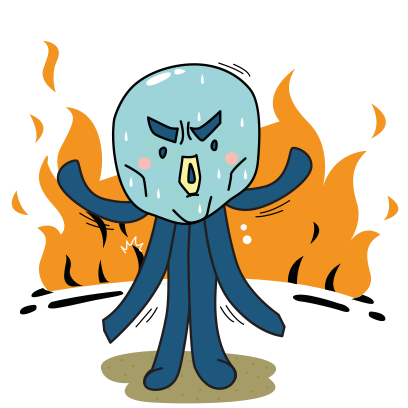 Cranky Octo - Octopus Stickers messages sticker-4