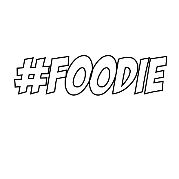 #Foodie-Hashtag Stickers for Food Lovers! messages sticker-1