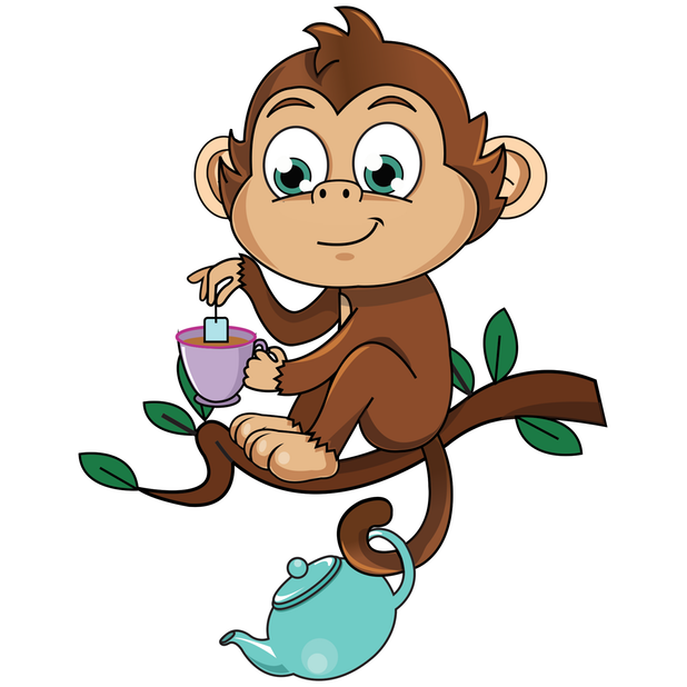Cute Monkey Stickers messages sticker-7