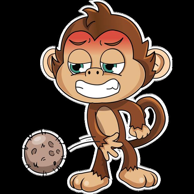 Cute Monkey Stickers messages sticker-11