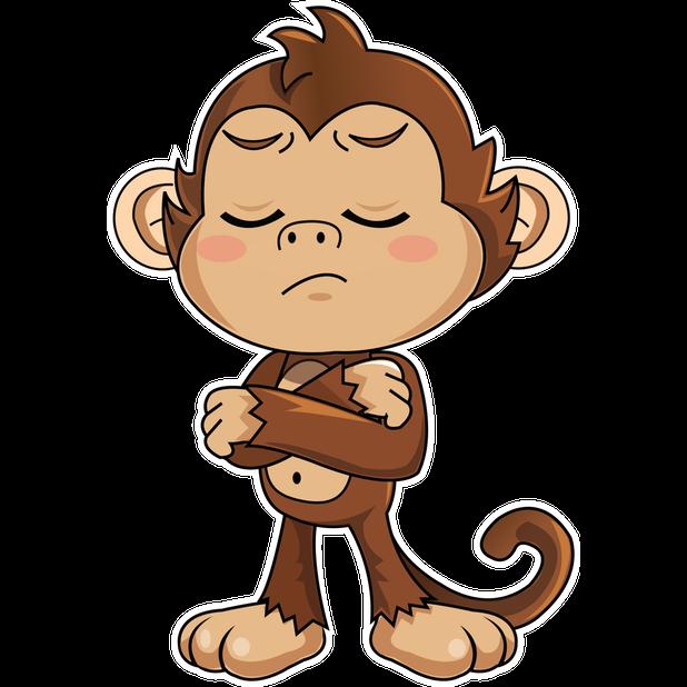 Cute Monkey Stickers messages sticker-8