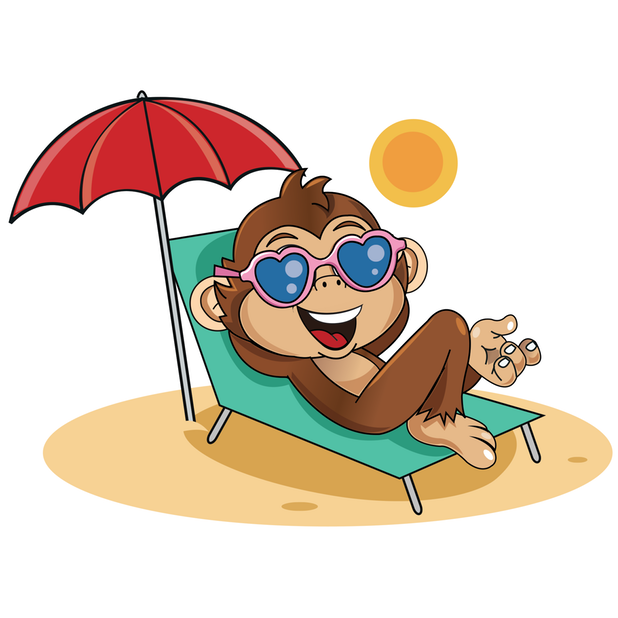 Cute Monkey Stickers messages sticker-3