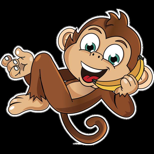 Cute Monkey Stickers messages sticker-4