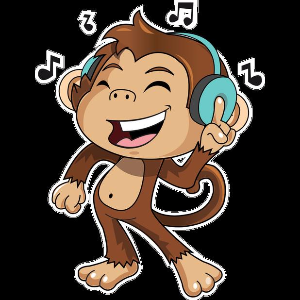 Cute Monkey Stickers messages sticker-1