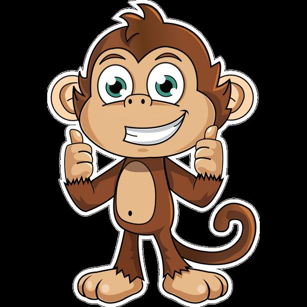 Cute Monkey Stickers messages sticker-0