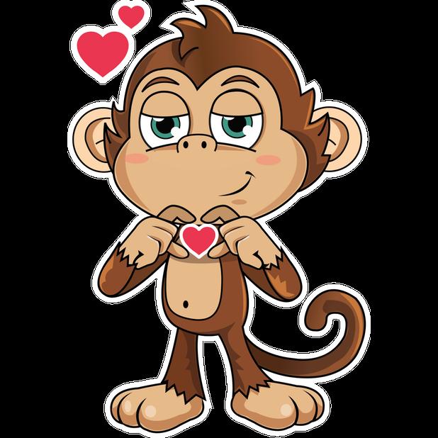 Cute Monkey Stickers messages sticker-5