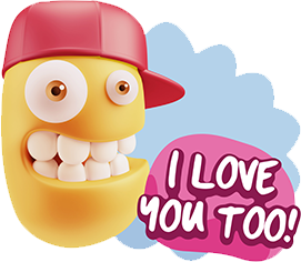 3D Expressions 2 messages sticker-5