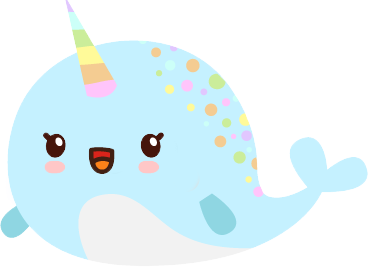 Narwhal Emoji Sticker Pack with Kawaii Faces messages sticker-3