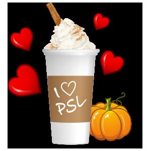 Pumpkin Spice Latte messages sticker-9