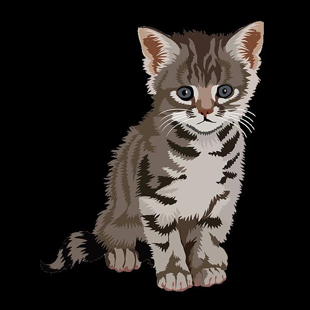Cute Kittens - Cat Art, Stickers messages sticker-8