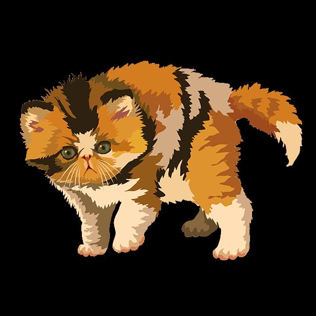 Cute Kittens - Cat Art, Stickers messages sticker-4