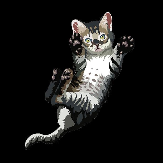 Cute Kittens - Cat Art, Stickers messages sticker-1