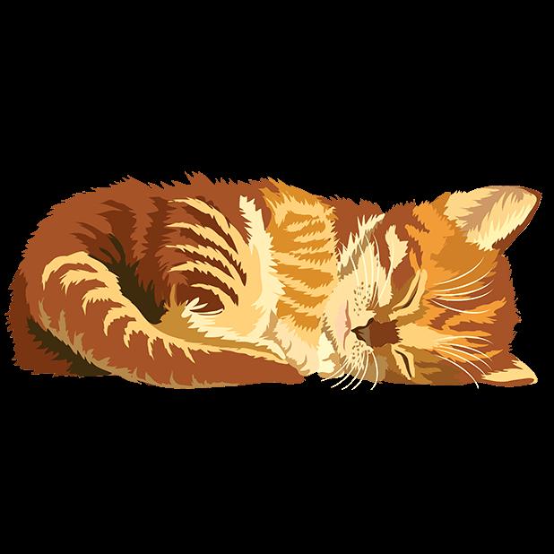 Cute Kittens - Cat Art, Stickers messages sticker-9