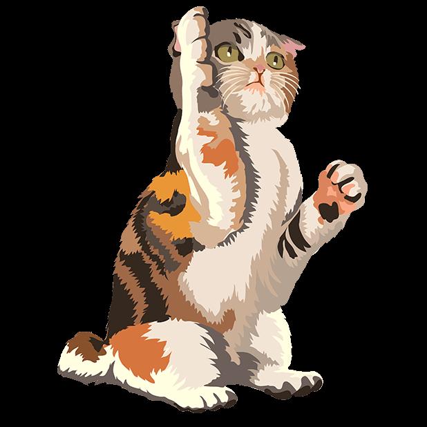 Cute Kittens - Cat Art, Stickers messages sticker-0