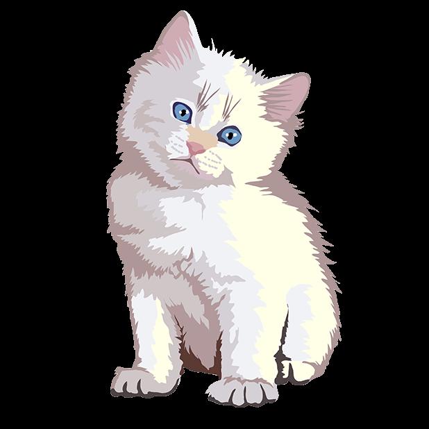 Cute Kittens - Cat Art, Stickers messages sticker-7