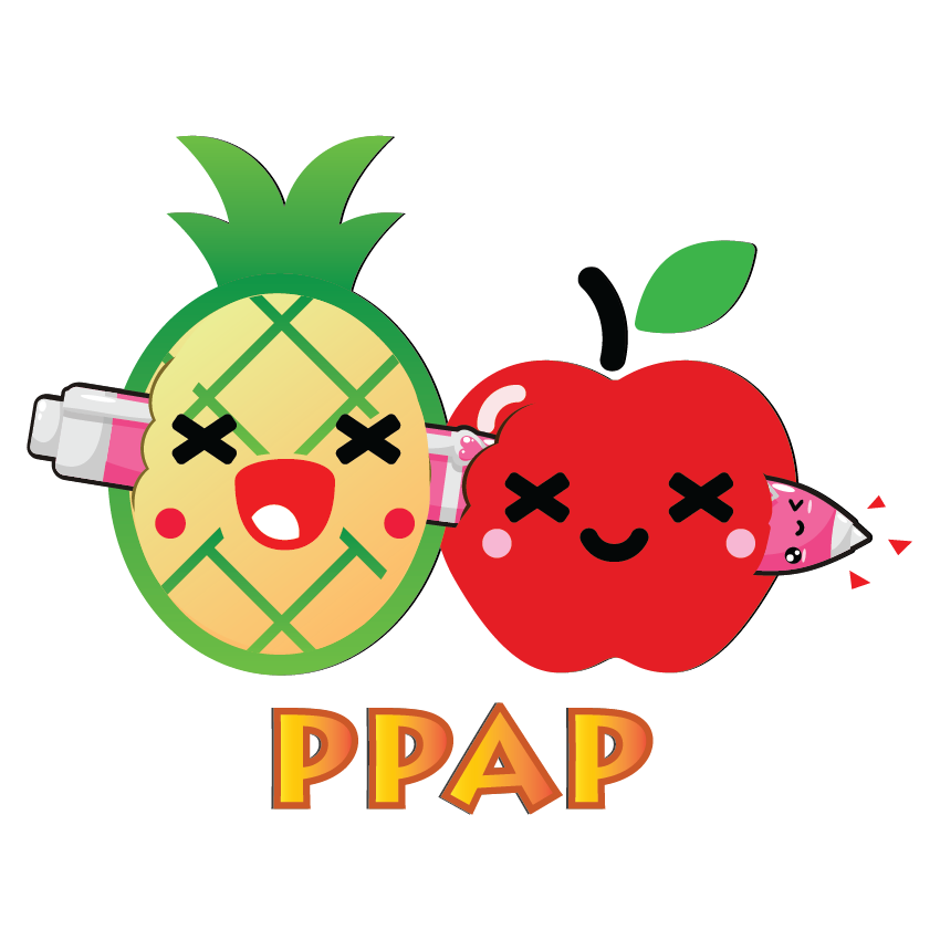 Kawaii Fruits and Pens messages sticker-0