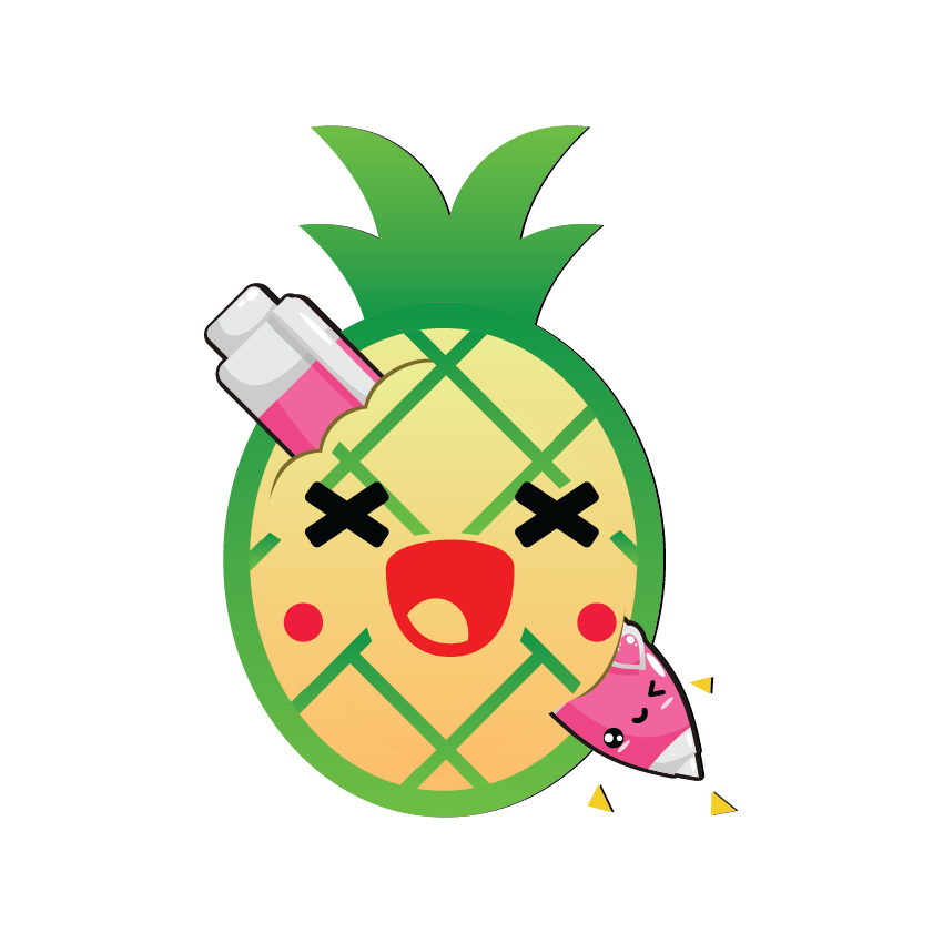 Kawaii Fruits and Pens messages sticker-1