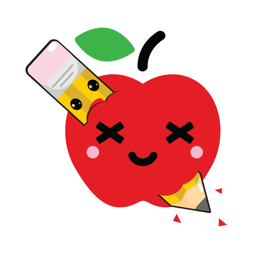 Kawaii Fruits and Pens messages sticker-4
