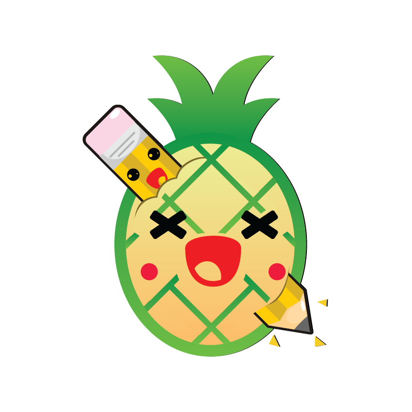 Kawaii Fruits and Pens messages sticker-3