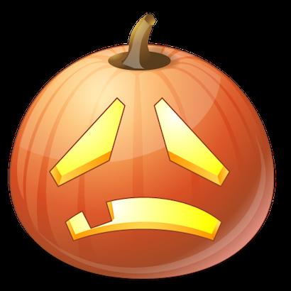 Pumpkin Halloween Emoji Sticker #10 messages sticker-11
