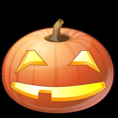 Pumpkin Halloween Emoji Sticker #10 messages sticker-2