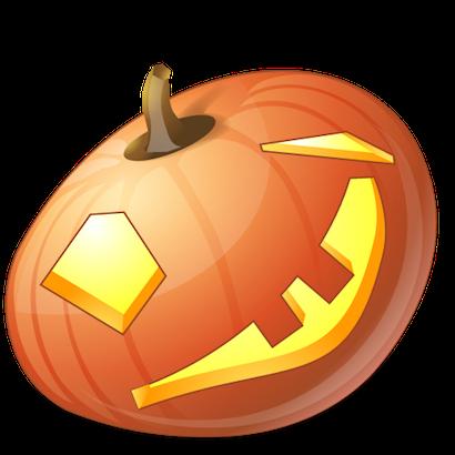 Pumpkin Halloween Emoji Sticker #10 messages sticker-10