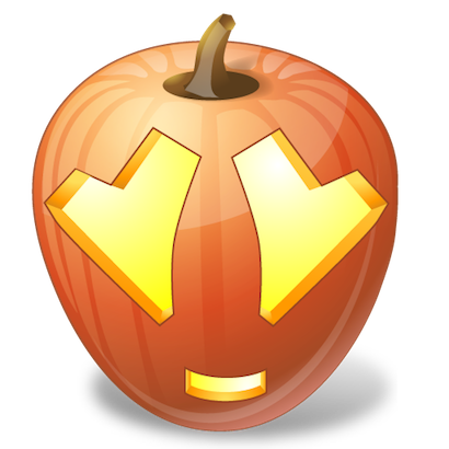 Pumpkin Halloween Emoji Sticker #10 messages sticker-4