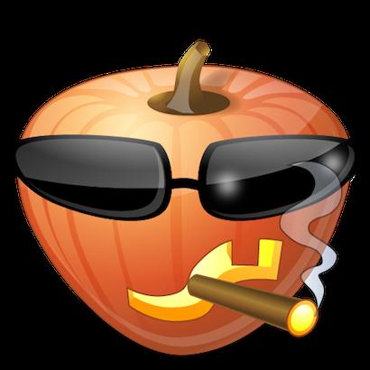 Pumpkin Halloween Emoji Sticker #10 messages sticker-7