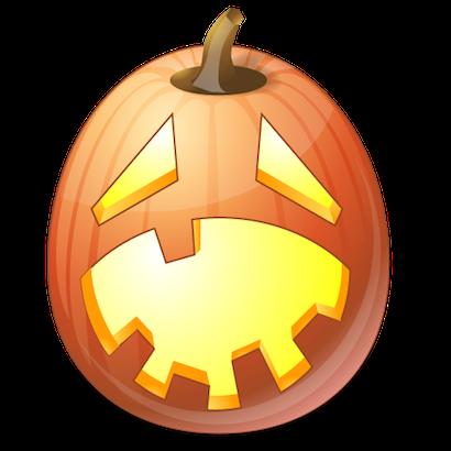 Pumpkin Halloween Emoji Sticker #10 messages sticker-8