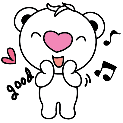 Heartbear, the Messenger of Love - Mango Sticker messages sticker-9