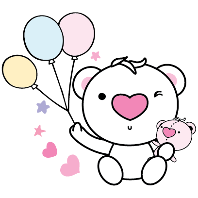 Heartbear, the Messenger of Love - Mango Sticker messages sticker-3