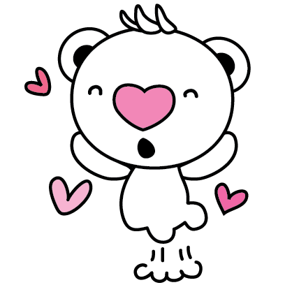 Heartbear, the Messenger of Love - Mango Sticker messages sticker-8