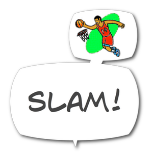 Swish! Sports Sounds Comic Bubbles messages sticker-5
