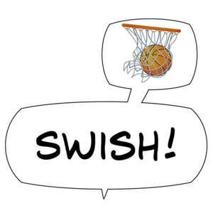 Swish! Sports Sounds Comic Bubbles messages sticker-0