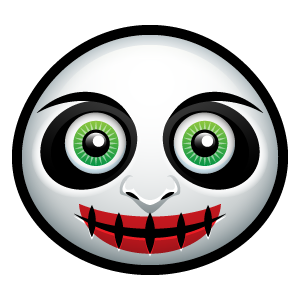 Halloween Face Emoji - Sticker messages sticker-7