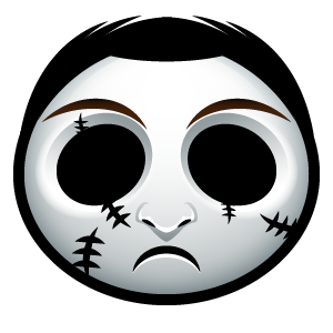 Halloween Face Emoji - Sticker messages sticker-9