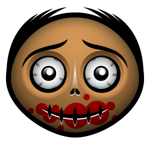 Halloween Face Emoji - Sticker messages sticker-11