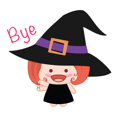 Wikie - The Little Witch messages sticker-2